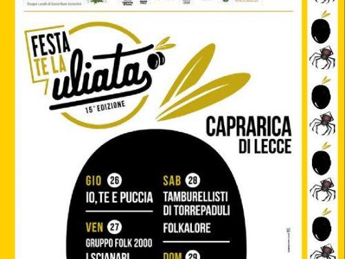 FESTA te la ULIATA Dal 26 al 29 luglio 2018 a Caprarica (LE)