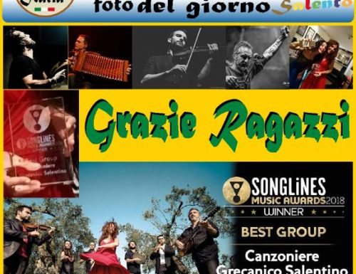 "Grazie Canzoniere Grecanico Salentino ""The Best"" Songlines Music Awards 2018"