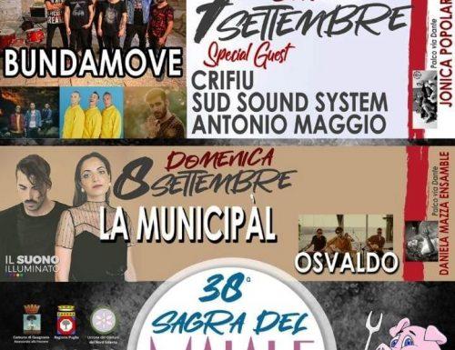 38a SAGRA DEL MAIALE A Guagnano 6-7-8 SETTEMBRE 2019